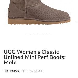 Ugg mini perf leather boots. Mule. Size 7